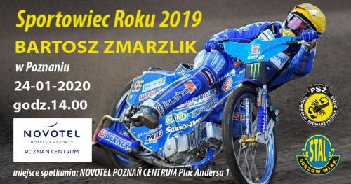 Spotkanie ze Sportowcem Roku 2019 - Mistrzem Świata na Żużlu Bartoszem Zmarzlikiem