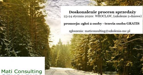 Doskonalenie procesu sprzedaży (promocja: zgłoś 2 osoby - trzecia osoba gratis)