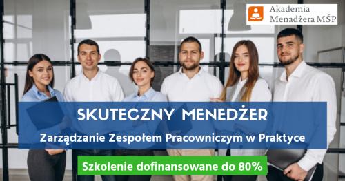 Skuteczny Menedżer - Zarządzanie Zespołem Pracowniczym w Praktyce (2 dni) - Akademia Menadżera MŚP