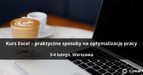 Kurs Excel - praktyczne sposoby na optymalizację pracy - Warszawa