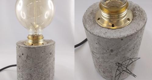 Betonowa lampka// DIY