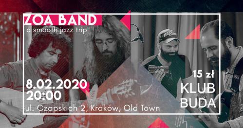 ZOA Band live @Klub Buda
