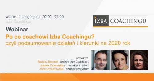 Po co coachowi Izba Coachingu? - czyli podsumowanie działań i kierunki na 2020 rok