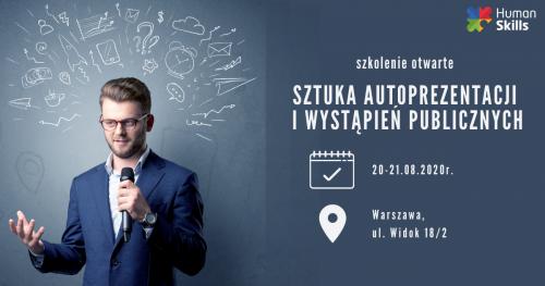 Szkolenie otwarte w Warszawie Sztuka autoprezentacji i wystąpień publicznych