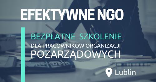 Bezpłatne szkolenie dla pracowników organizacji pozarządowych w Lublinie