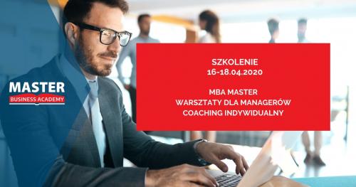 MBA MASTER - WARSZTATY DLA MANAGERÓW + COACHING INDYWIDUALNY