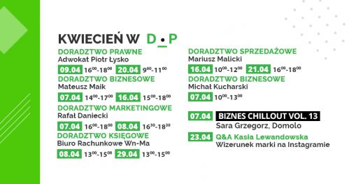 Darmowe Konsultacje Kwiecień 2020 - Dąbrowski Inkubator Przedsiębiorczości