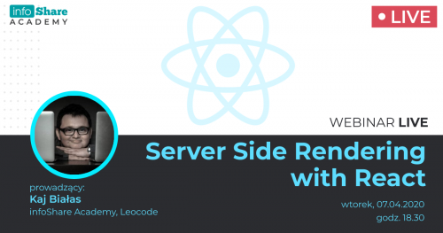 Bezpłatny webinar: Server Side Rendering with React