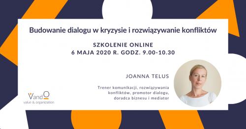 Szkolenie online: Budowanie dialogu w kryzysie i rozwiązywanie konfliktów.