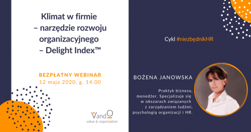 Webinar: Klimat w firmie - narzędzie rozwoju organizacyjnego - Delight Index™
