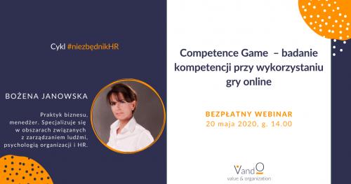 Webinar: Competence Game - badanie kompetencji przy wykorzystaniu gry online