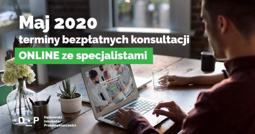 Darmowe Konsultacje Maj vol. 1 - Dąbrowski Inkubator Przedsiębiorczości