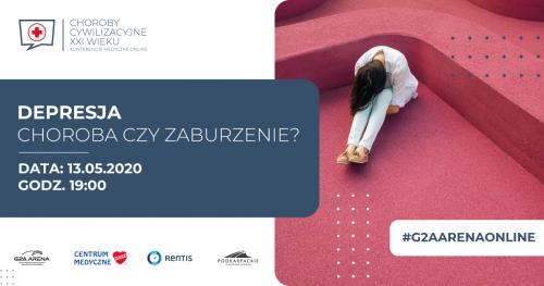 DEPRESJA - choroba czy zaburzenie? / konferencja medyczna online / live chat z psychologiem / 13 maja 2020 godz. 19:00