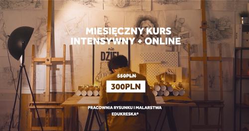 Miesięczny intensywny kurs rysunku + online Gdynia