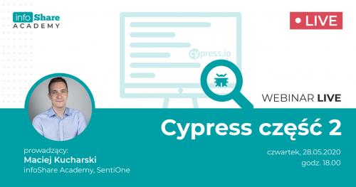 Bezpłatny webinar: Cypress - część 2