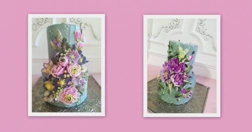 Trójmiasto - szkolenie kwiaty maślane. Tylki i szpachelki  Malowanie tortu kremem 20-21.06.2020