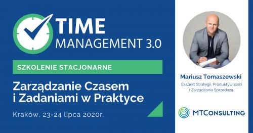 Time Management 3.0 - Zarządzanie Czasem i Zadaniami w Praktyce [SZKOLENIE STACJONARNE]