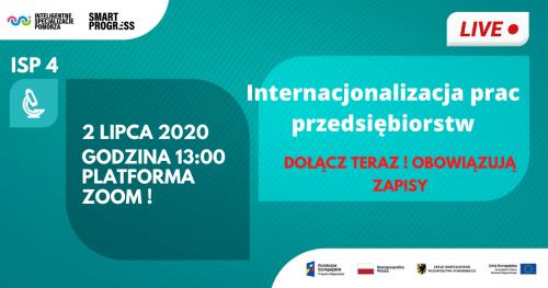 Webinar ISP 4: Internacjonalizacja prac przedsiębiorstw