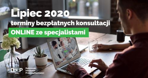Darmowe Konsultacje Lipiec vol. 2 - Dąbrowski Inkubator Przedsiębiorczości