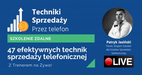 Techniki sprzedaży przez telefon- 47 technik doradczej sprzedaży telefonicznej.[Szkolenie Online]