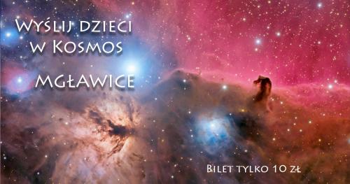 Wyślij dzieci w Kosmos - Mgławice.  kosmiczne spotkanie Online dla dzieci z Astrohunters