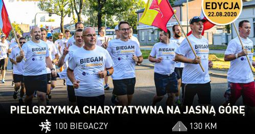 IV Biegowa Pielgrzymka Charytatywna z Łodzi na Jasną Górę 2020