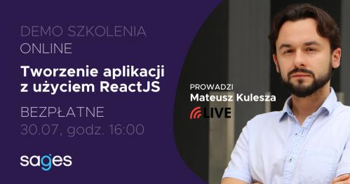 Tworzenie aplikacji z użyciem ReactJS [LIVE DEMO]