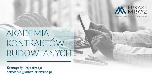 Umowy budowlane 2.0 - Gdańsk