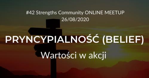 Talenty Gallupa - Strengths Community Meetup #42 (ONLINE)   Talent PRYNCYPIALNOŚĆ (BELIEF) - Wartości w akcji