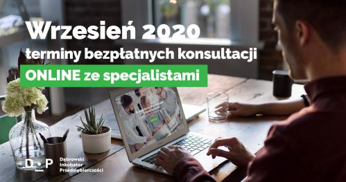 Darmowe Konsultacje Wrzesień vol.1 - Dąbrowski Inkubator Przedsiębiorczości