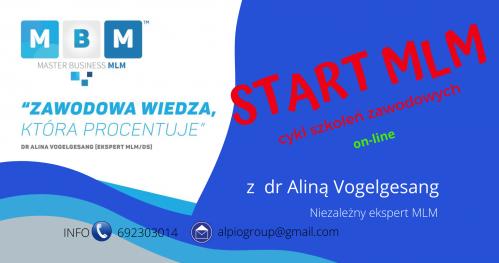 START MLM III edycja- kurs zawodowy MBMLM dr Alina Vogelgesang