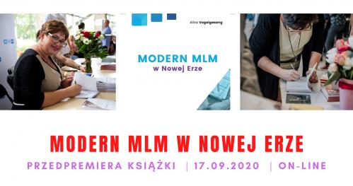PRZEDPREMIERA KSIĄŻKI MODERN MLM W NOWEJ ERZE dr Aliny Vogelgesang (on-line)