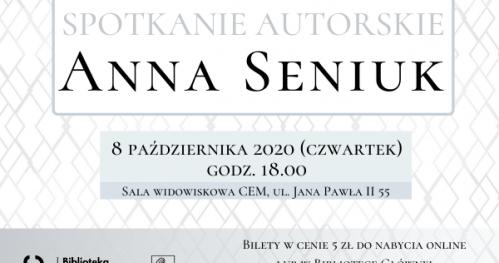Spotkanie autorskie z Anną Seniuk