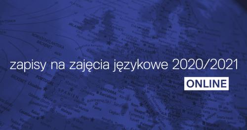 Zapisy na zajęcia językowe 2020/2021