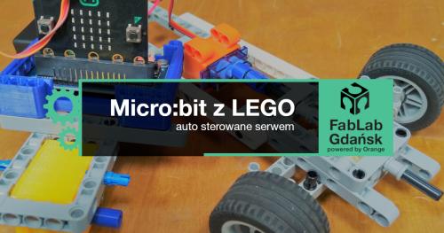 Micro:bit z LEGO - auto sterowane serwem
