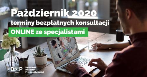 Darmowe Konsultacje Październik vol.1 - Dąbrowski Inkubator Przedsiębiorczości