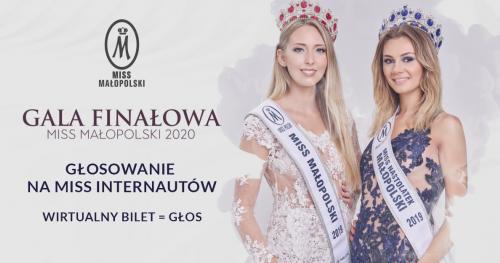 WIRTUALNY BILET - GŁOSOWANIE Miss Małopolski 2020