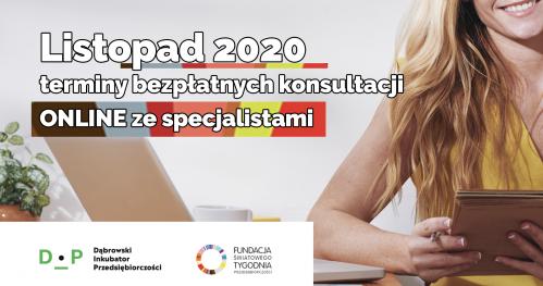 Darmowe Konsultacje Listopad ŚTP - Dąbrowski Inkubator Przedsiębiorczości
