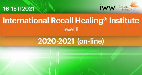 International Recall Healing® Institute on-line - Institute 2  (2020-2021)