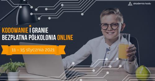 Kodowanie i Granie - Półkolonia Online   Bezpłatne wydarzenie dla dzieci i młodzieży (10+)