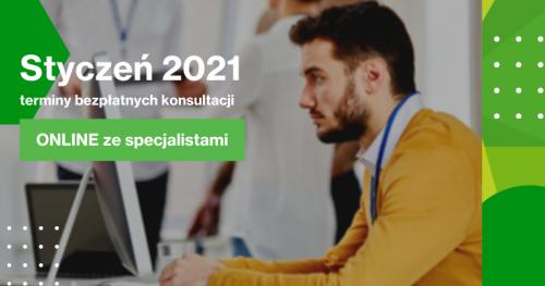 Darmowe Konsultacje Styczeń - Dąbrowski Inkubator Przedsiębiorczości