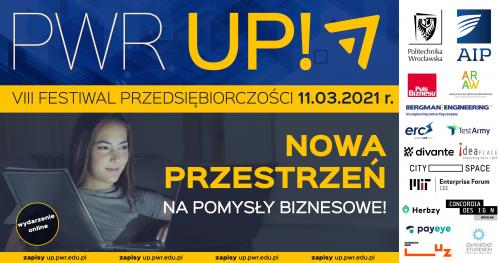 💡✅📈  VIII Festiwal Przedsiębiorczości PWr UP 2021 online