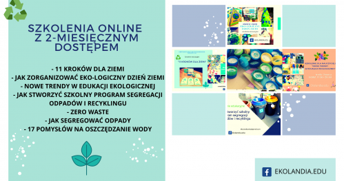Szkolenia edukacyjne online od Ekolandia.edu