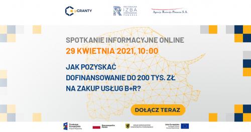 Spotkanie informacyjne online - Jak pozyskać dofinansowanie do 200 tys. zł na zakup usług B+R?