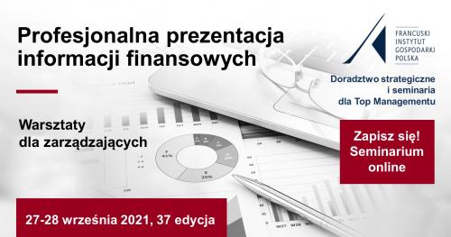 Profesjonalna prezentacja informacji finansowych