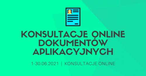 Konsultacje online dokumentów aplikacyjnych