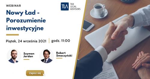 Webinar TLA - Nowy Ład - Porozumienie inwestycyjne