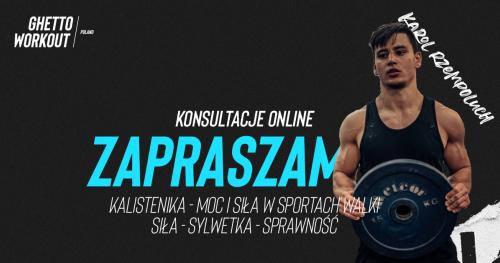 Konsultacje online z treningu siłowego pod sporty walki, rehabilitacji - trener Karol