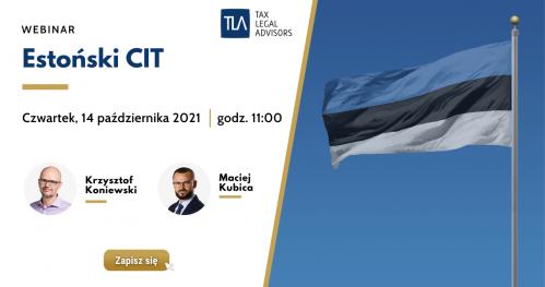 Webinar TLA - Estoński CIT