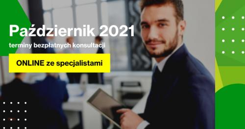 Darmowe Konsultacje Październik - Dąbrowski Inkubator Przedsiębiorczości
